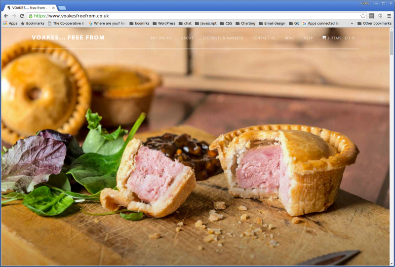 Screenshot-VOAKES... free from – Delicious Gluten and Wheat Free Pies and Pastry Products - Google Chrome